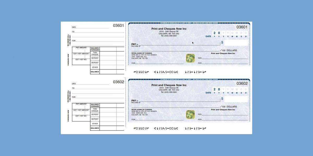chèques personnels de Print & Checks Now